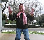 Chris in pink stuff.